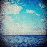 Sea in grunge and retro style. Stock Images