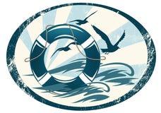 Sea guard emblem Royalty Free Stock Photography