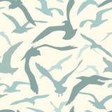 Sea gulls pattern vector illustration