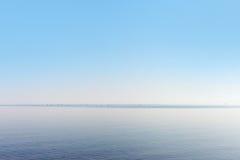 Sea gulls in still Baltic sea. Stock Image