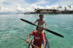The Sea Gypsies. Bajau People... Stock Image