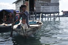 The Sea Gypsies. Bajau People... Royalty Free Stock Photography