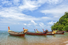 Sea gypsies boats Royalty Free Stock Images