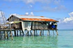 Sea gypsies houses on stilts at Semporna, Sabah, Malaysia Royalty Free Stock Photo