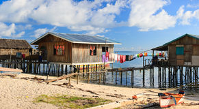 Sea gypsy houses Royalty Free Stock Photo