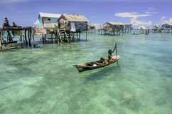 Sea Gypsy known as bajau laut Stock Photo
