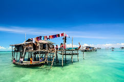 Sea Gypsy known as bajau laut Stock Images