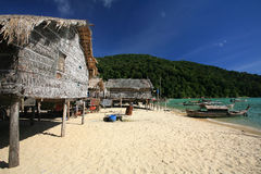 Sea Gypsy, Morgan, village at Surin islands Royalty Free Stock Photography