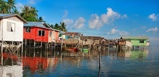 Sea gypsy village Stock Photography