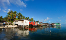 Sea gypsy village Stock Photos
