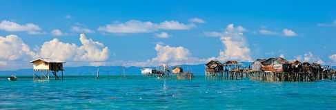 Sea gypsy village Stock Images