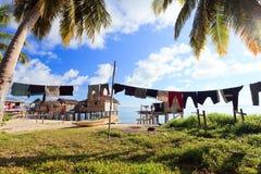 Sea gypsy village in Malaysia Stock Photography