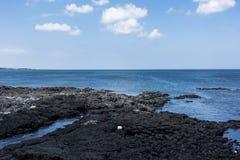 Sea from the Haemajihaean-ro, jeju, south korea stock image