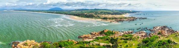 Sea Ham Thuan Nam, Binh Thuan view from Ke Ga lighthouse Stock Image