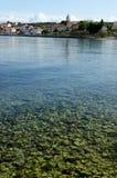 Sea Handrails. Beautiful Adriatic coast near Zadar, Croatia Stock Photography