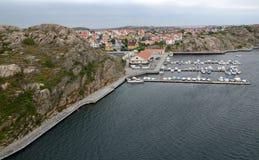 Sea harbor in Smögen Royalty Free Stock Photos