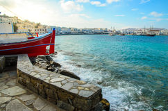 Sea harbour. A sea harbour in Mykonos island locate in Aegeon sea Stock Photography