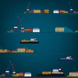 01 sea harbour pattern Stock Images