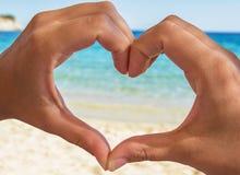 Sea heart Stock Photo