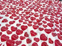 Sea of Hearts Stock Photo
