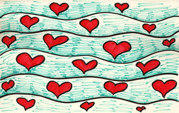 Sea of hearts. Stock Photo
