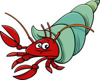 Sea hermit crab cartoon illustration Royalty Free Stock Photo