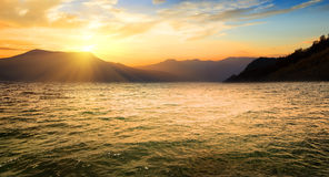 Sea and high mountains Royalty Free Stock Photography