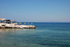Sea and holiday. Holiday near beach in izmir in Turkey Stock Photography