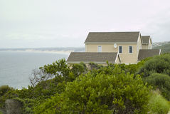 Sea holiday house Stock Images