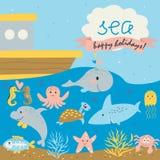 Sea holidays background Stock Photo