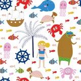 Sea holidays background Royalty Free Stock Images