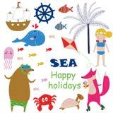 Sea holidays background Royalty Free Stock Image