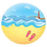 Sea holidays icon funny Stock Photos