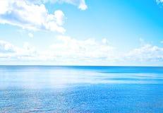 Sea horizon. Of Beach beach under hot summer sun royalty free stock images