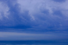 Sea horizon, bad weather Royalty Free Stock Images