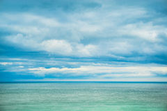 Sea, horizon and clouds. Stock Photo