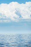 Sea horizon with cloudy sky Royalty Free Stock Photo