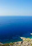Sea Horizon at Folegandros greece Royalty Free Stock Images