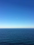 Sea horizon at Moraira Spain Royalty Free Stock Image