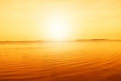 Sea at horizon Stock Image
