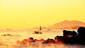 Sea, Horizon, Sky, Sunrise stock photos