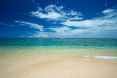 The Sea Horizon from YOSHINO Coast, Okinawa Prefecture/Japan Royalty Free Stock Images