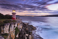 Sea Hornby LIghtH Cliff Left Stock Photography