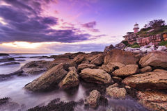 Sea Hornby Lighthouse right Royalty Free Stock Photos