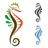 Sea Horse. Ilisturation image Royalty Free Stock Image