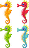Sea horse cartoon Royalty Free Stock Photography