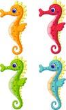 Sea horse cartoon stock illustration