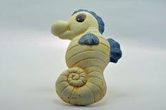 Sea horse ceramic bathroom ornament Royalty Free Stock Images