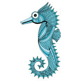 Sea horse illustration Stock Images