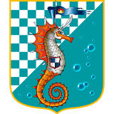 Sea horse orange. Marine chess orange sea horse Royalty Free Stock Images